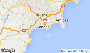 Map Cannes Apartment 72431