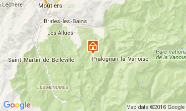 Map Courchevel One-room apartment 1075