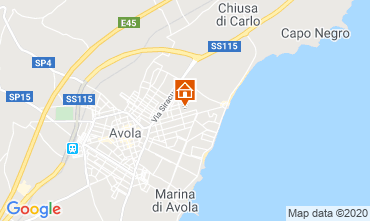 Map Avola One-room apartment 45891