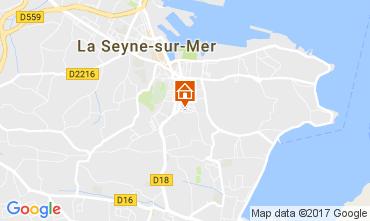 Map La Seyne sur Mer Apartment 108145