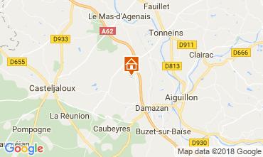 Map Casteljaloux Vacation rental 113847