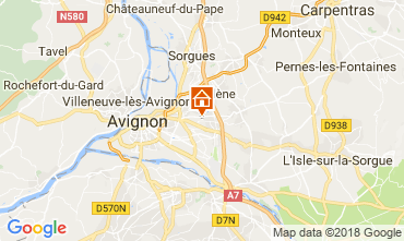 Map Avignon Villa 114848