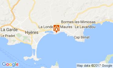 Map La Londe les Maures Apartment 110348