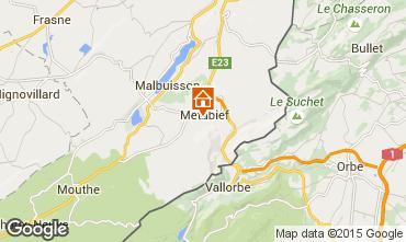 Map Métabief Vacation rental 74220