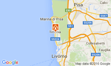 Map Tirrenia Apartment 76318