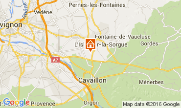 Map Isle sur la Sorgue Vacation rental 92591
