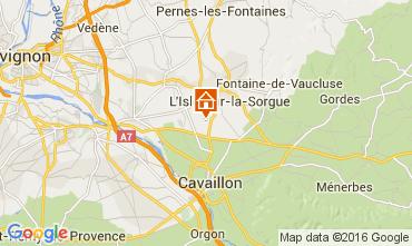 Map Isle sur la Sorgue Vacation rental 92591