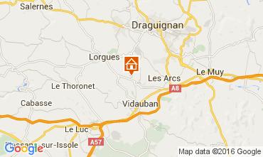 Map Lorgues Vacation rental 105361