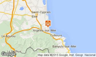 Map Argeles sur Mer Apartment 28598