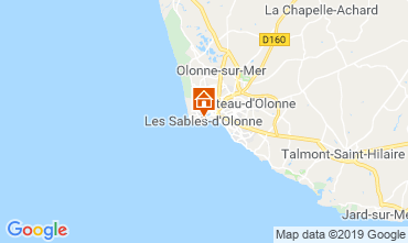 Map Les  Sables d'Olonne Apartment 117838