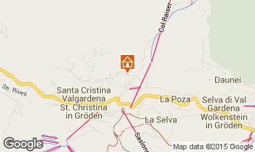 Map Santa Cristina Valgardena One-room apartment 83248