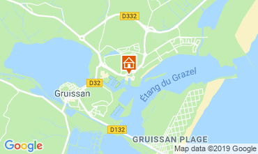 Map Gruissan Apartment 119065