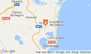 Map Torrevieja Apartment 109820