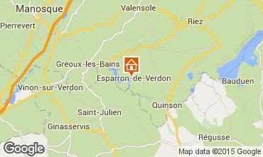 Map Esparron-de-Verdon House 87209