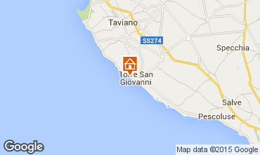 Map Ugento - Torre San Giovanni Apartment 77791