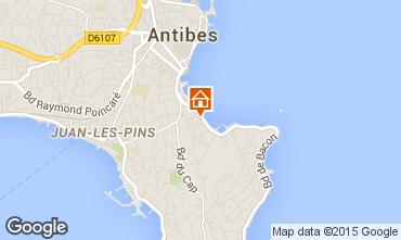 Map Antibes Apartment 84351