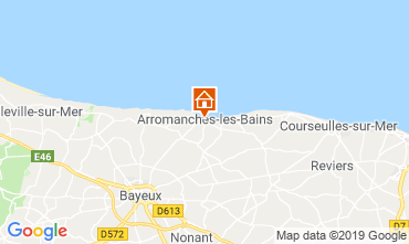 Map Arromanches Vacation rental 90681