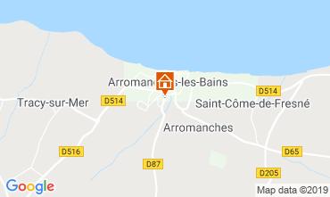 Map Arromanches Vacation rental 90681