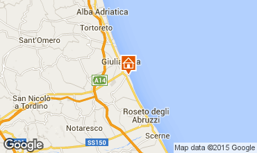 Map Roseto degli Abruzzi Apartment 48432