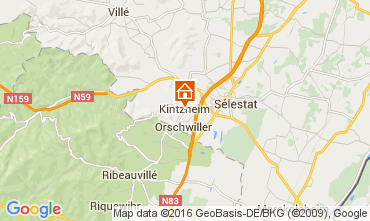 Map Kintzheim Vacation rental 105801