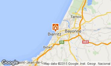 Map Biarritz Apartment 24484