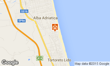 Map Alba Adriatica Apartment 88815
