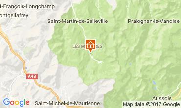 Map Les Menuires Apartment 1606
