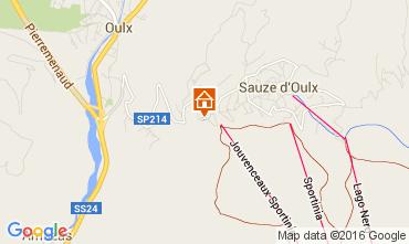 Map Sauze d'Oulx Apartment 79781