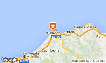 Map Capo d'Orlando Apartment 61636