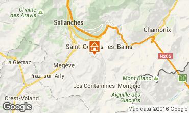 Map Saint Gervais Mont-Blanc Chalet 80692