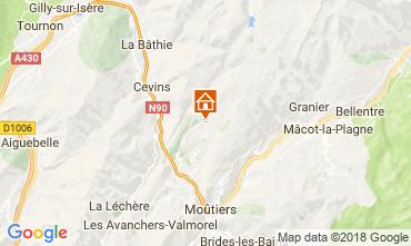 Map La Léchère Apartment 114431