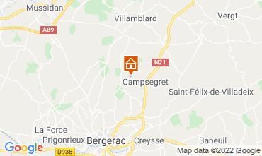 Map Bergerac Vacation rental 118030