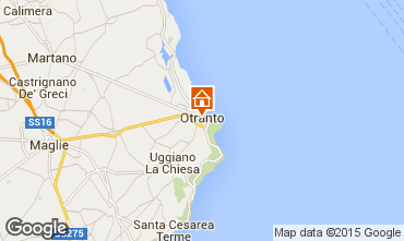 Map Otranto One-room apartment 82240