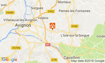 Map Isle sur la Sorgue Vacation rental 80424
