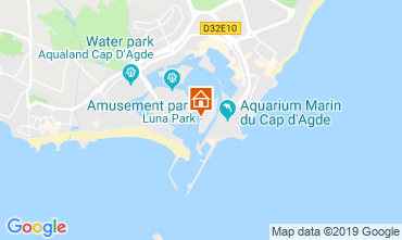 Map Cap d'Agde One-room apartment 118696