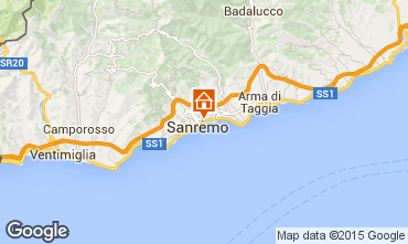Map Sanremo Apartment 26342