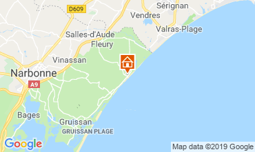 Map Saint Pierre la Mer Villa 118321