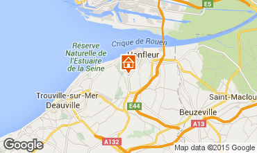 Map Honfleur Vacation rental 89230