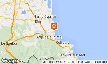 Map Argeles sur Mer Apartment 69645
