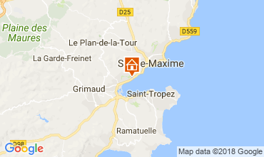 Map Saint Tropez House 93909