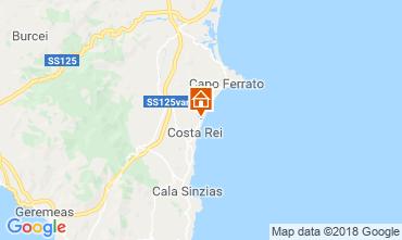 Map Costa Rei Apartment 115269