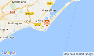 Map Cap d'Agde Apartment 112271