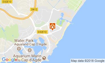 Map Cap d'Agde Apartment 112271