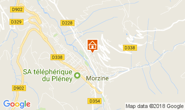 Map Morzine Apartment 80335