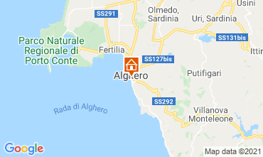 Map Alghero Apartment 51195