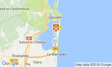 Map Port Leucate Villa 115630
