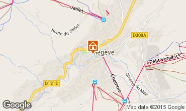 Map Megève Apartment 1507