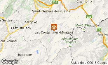 Map Les Contamines Montjoie Apartment 17080