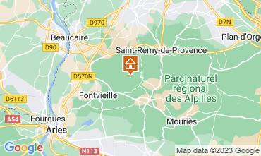 Map Les Baux de Provence Vacation rental 13098