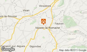 Map Vaison la Romaine Vacation rental 81749